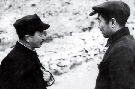 Nosaka Sanzo with Zhou Enlai in Yenan