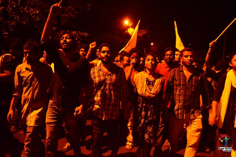 Students Stand With JNU as ABVP Decimates