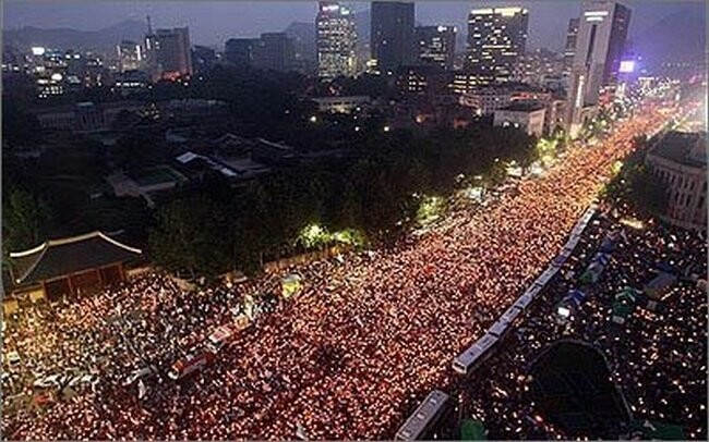 South Korea candle light protest