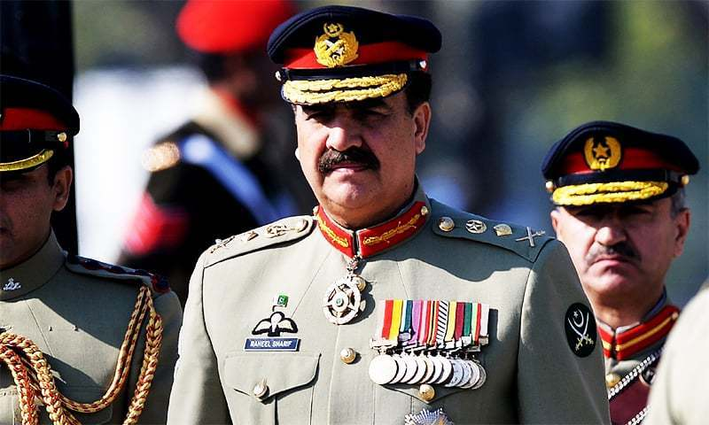 army chief, Gen. Raheel Sharif