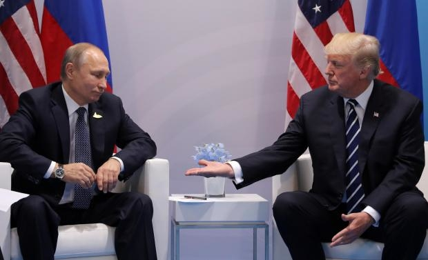 Trump Putin Shake Hands on Syria's Partial Ceasefire