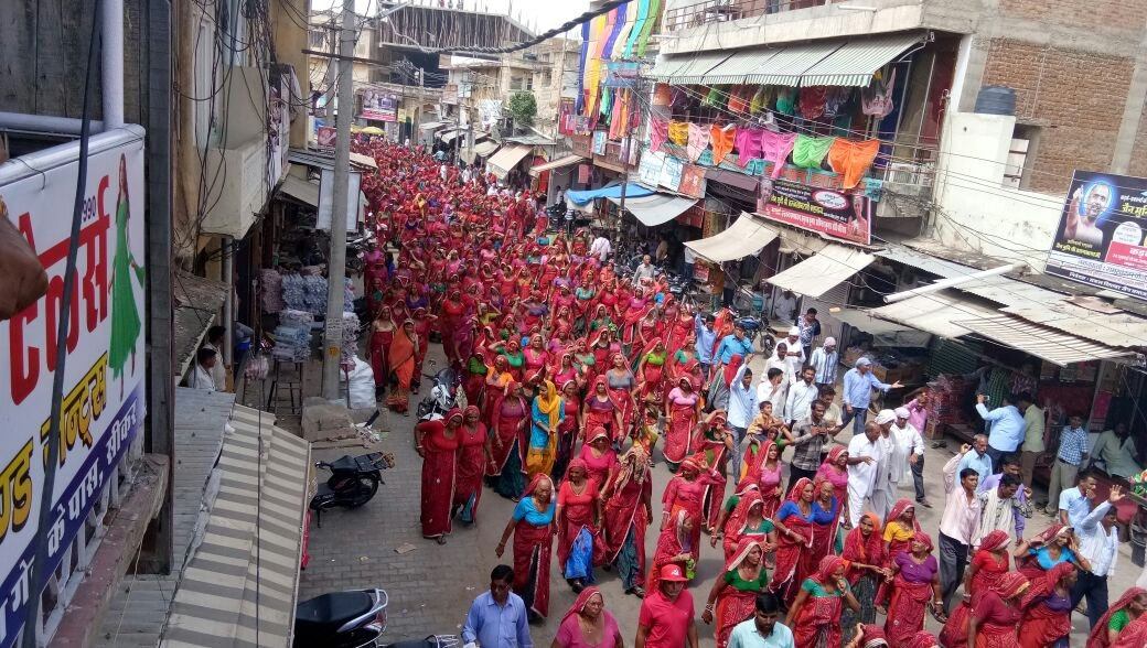 Women at Kisan Sabha protest in Sikar