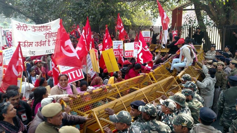 Scheme Workers Submit Memorandum to PM While Observing All India Strike