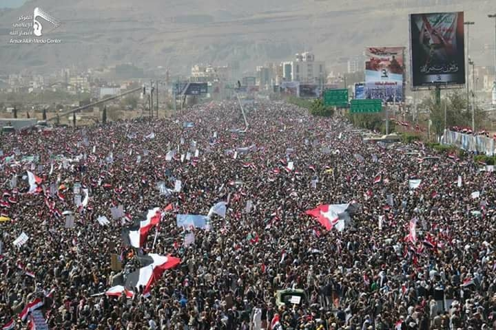 tens of thousands in yemen protest against us saudi led aggression
