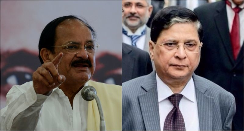 Vice President Naidu And dipak misra