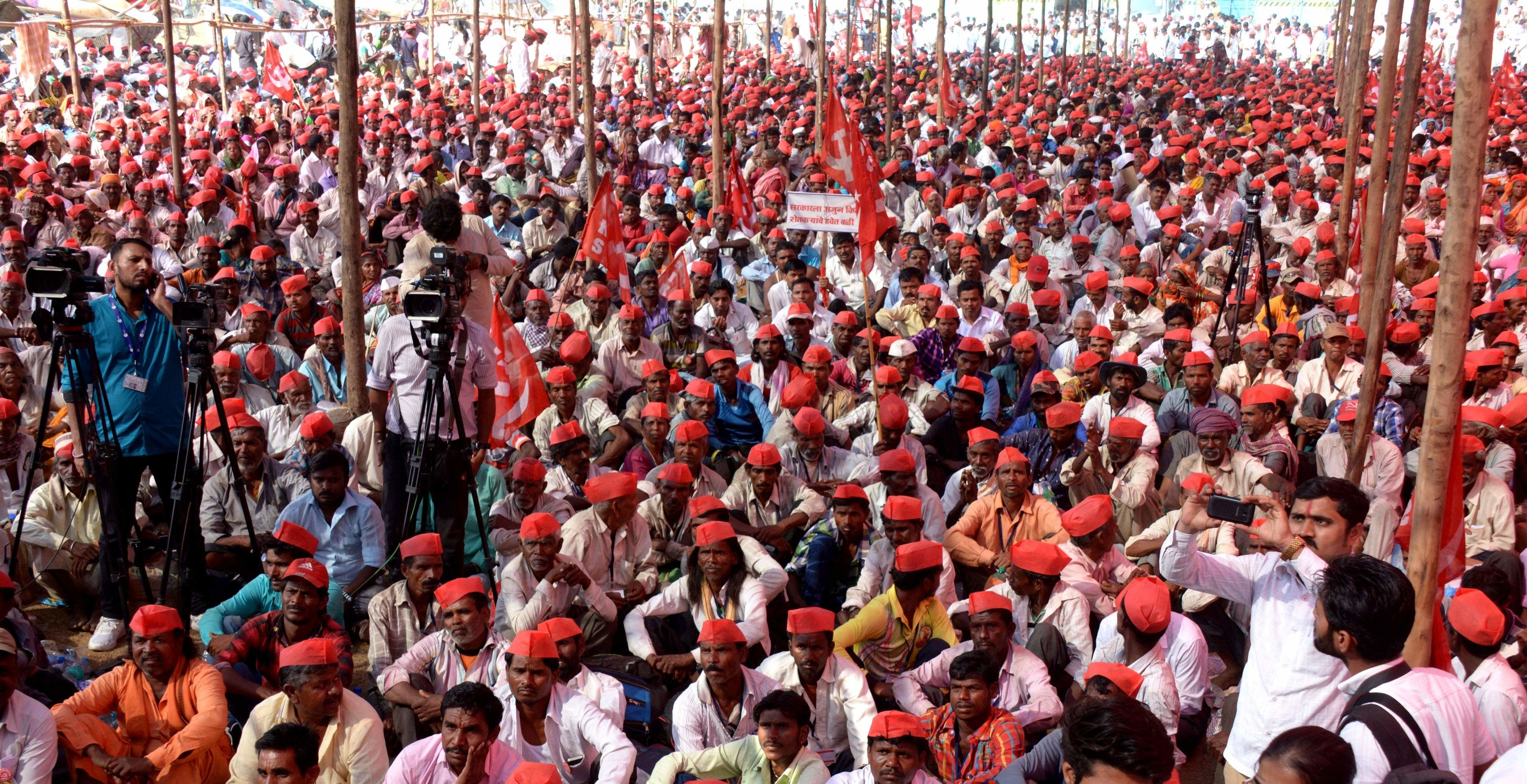 Image result for Kisan – Mazdoor Sangharsh rally