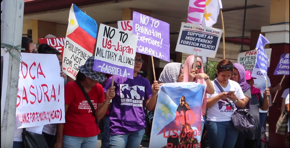 Activists Groups in Philippines Oppose Military Exercises with US