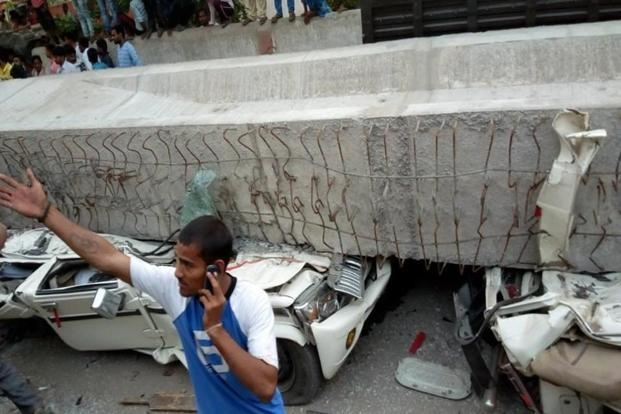 Varanasi flyover collapse: officials booked