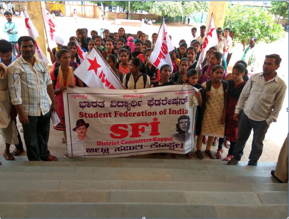 SFI Students Protest