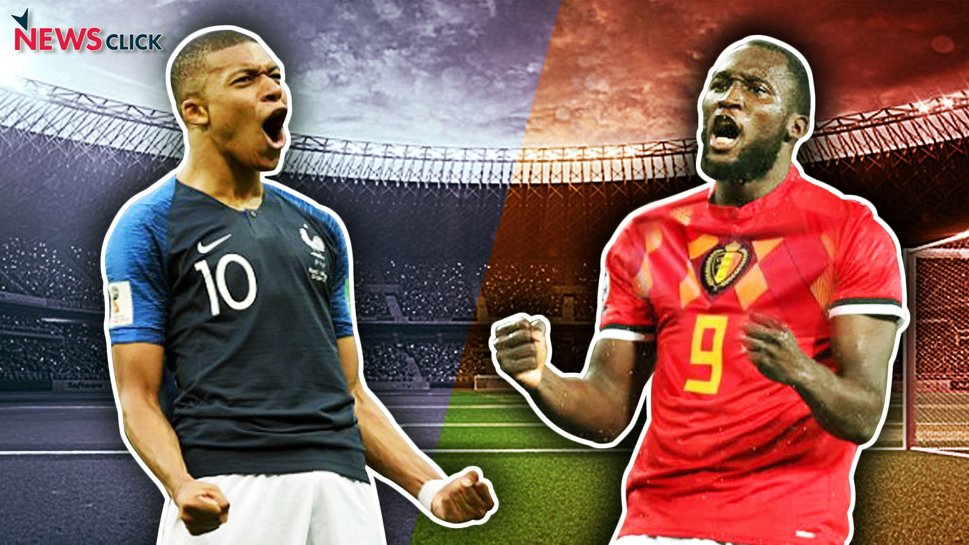 Kylian Mbappe and Romelu Lukaku at FIFA World Cup.