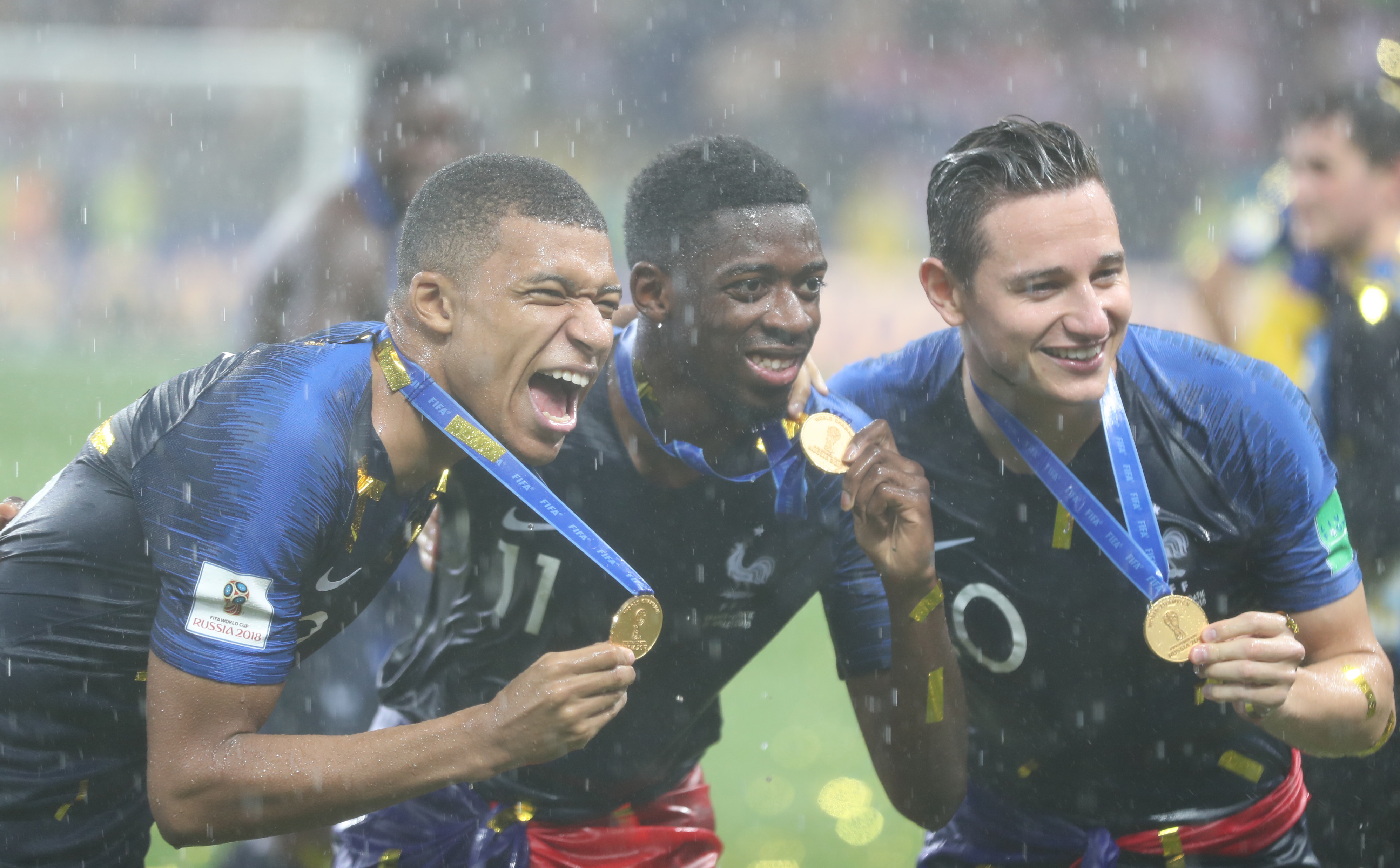 France's Kylian Mbappe FIFA World Cup medal