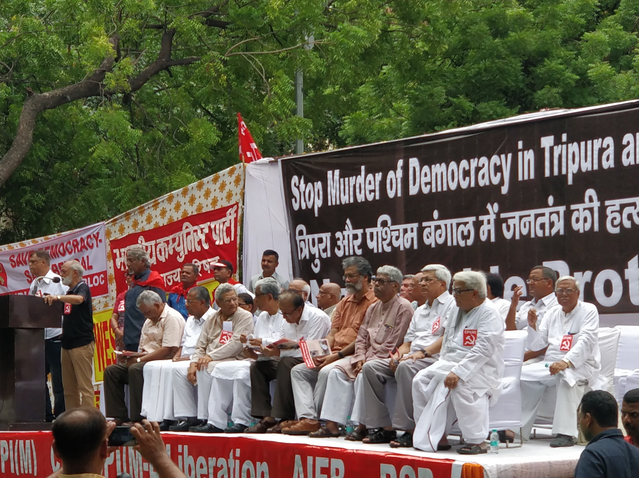 Left parties rally in Delhi