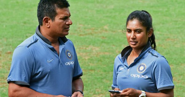 Tushar Arothe and Indian women's cricket team skipper Mithali Raj.