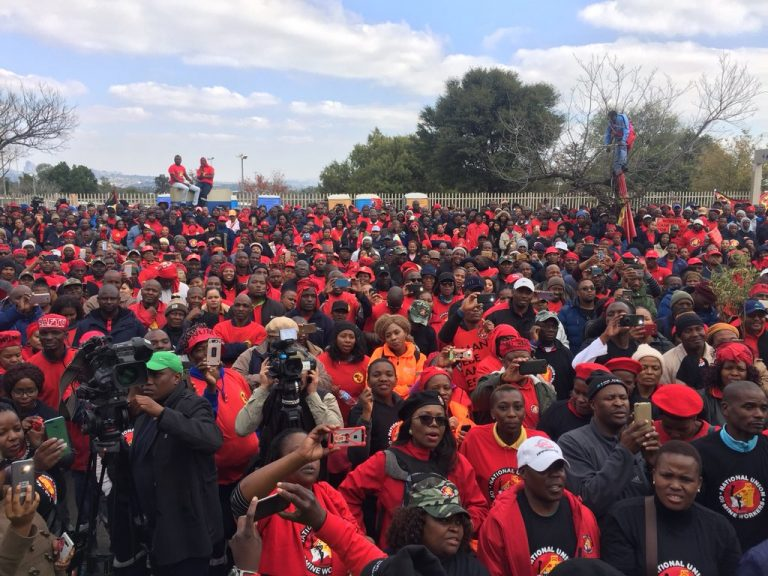 Workers protest in South Africa