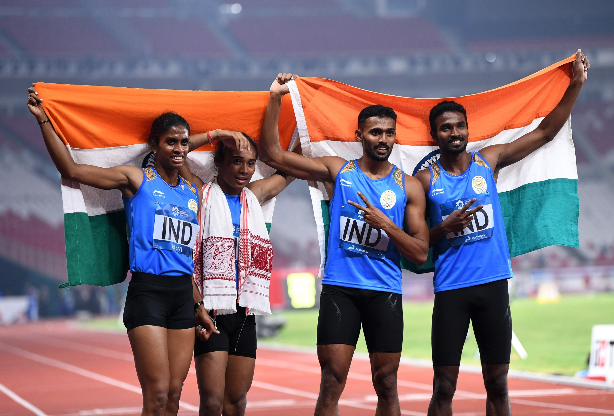 Indian 4x400m relay team at Asian Games 2018
