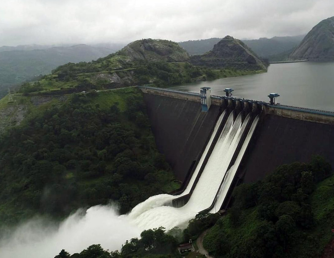 When all the 5 shutters of the Cheruthoni/Idukki dam was opened during 2018 Kerala Floods.