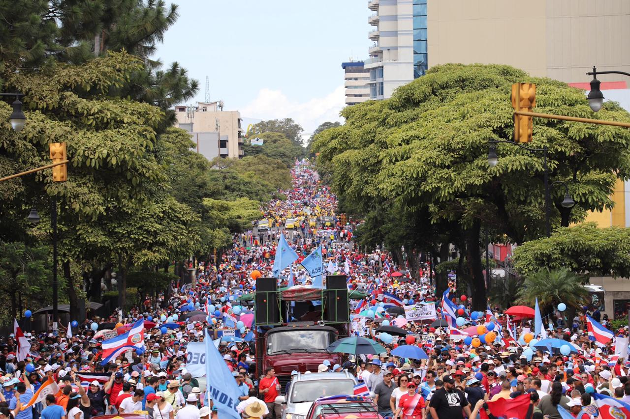 National March on September 13 in San José as part of the National Indefinite Strike. Photo Credit: El Mundo Costa Rica
