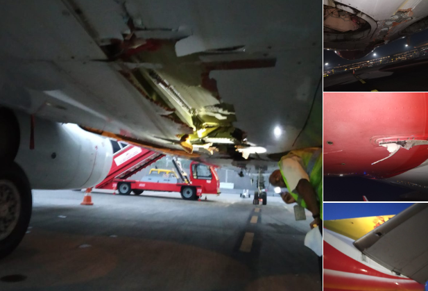 Air India Damaged Flight