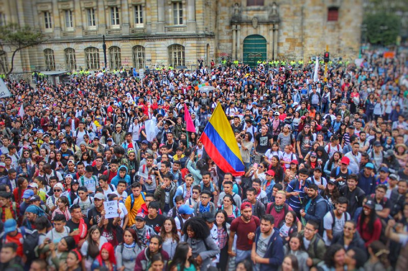 Colombia Students' Protest