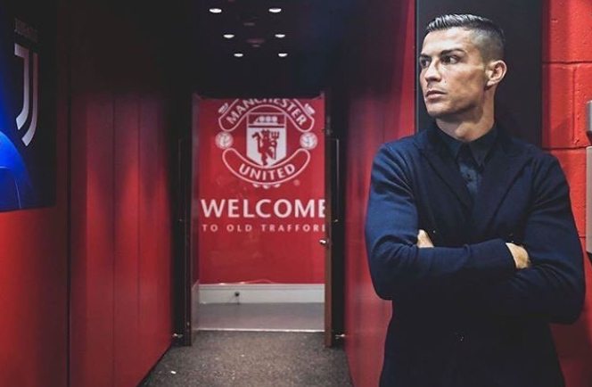 Cristiano Ronaldo of Juventus FC at Old Trafford