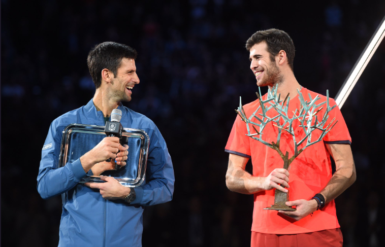 Novak Djokovic and Karen Khachanov