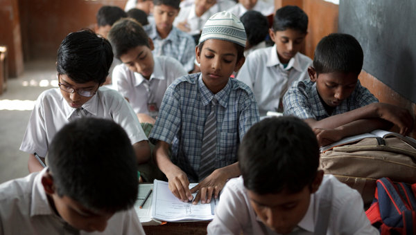 Muslim students in India
