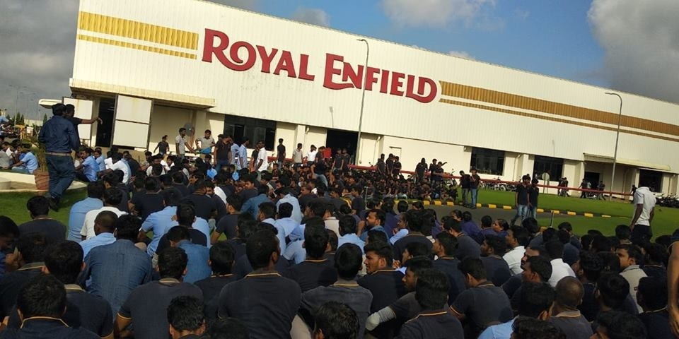 Workers' Protest in Royal Enfield Plant in Tamilnadu Enters 50th Day