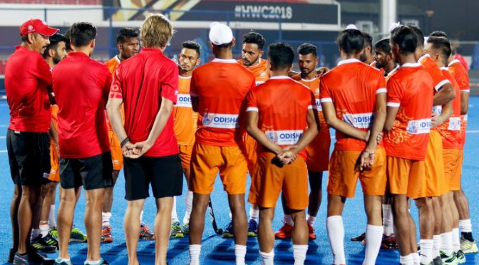 Indian hockey team coach Harendra Singh at FIH Men's Hockey World Cup