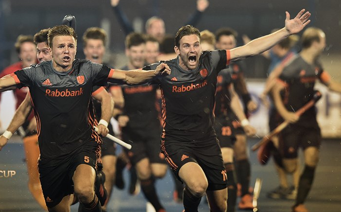 Netherlands hockey team players at FIH Men's Hockey World Cup