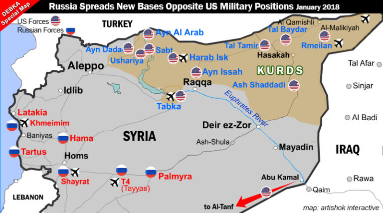 US bases in northeast Syria