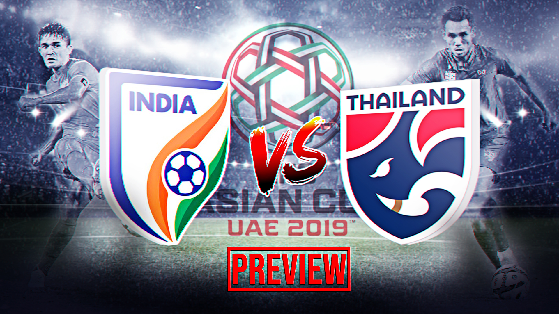 India vs Thailand AFC Asian Cup football