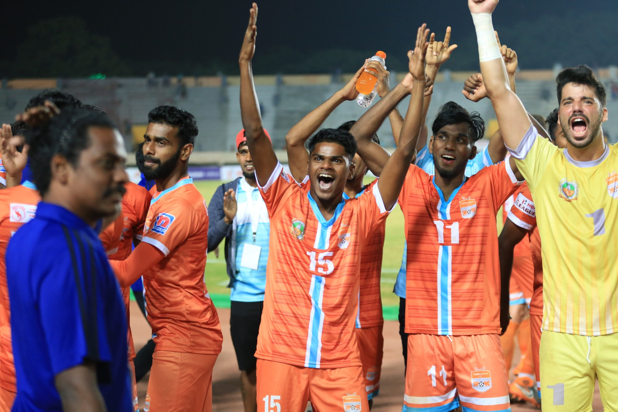 Chennai City FC players after I-League match vs Gokulam Kerala FC