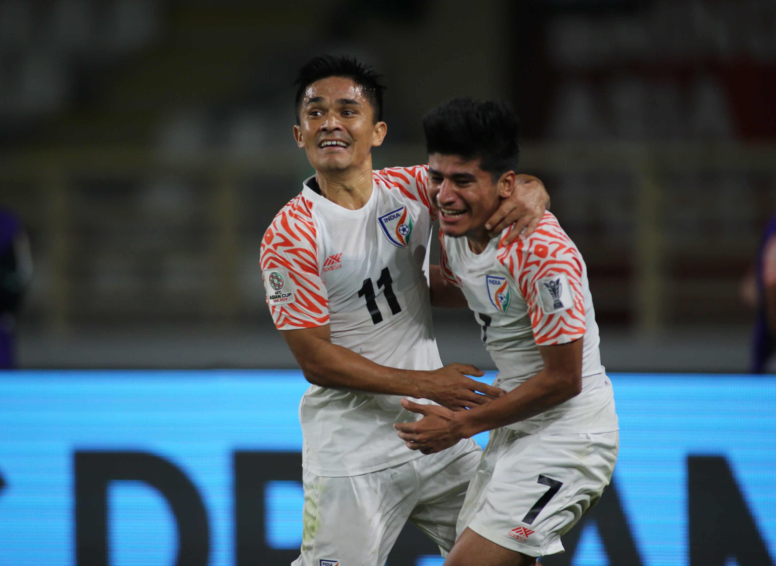 Indian football team's Sunil Chhetri at AFC Asian Cup