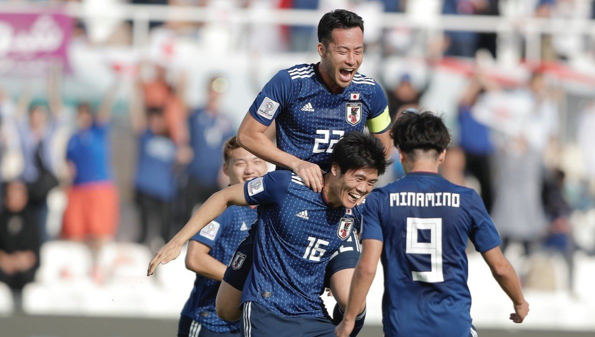 Japan football team players at AFC Asian Cup 2019