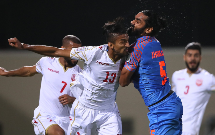 Sandesh Jhingan of Indian football team at AFC Asian Cup match vs Bahrain