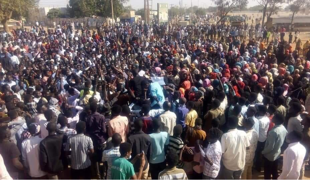 protesters demonstrating over price hikes in Sudan