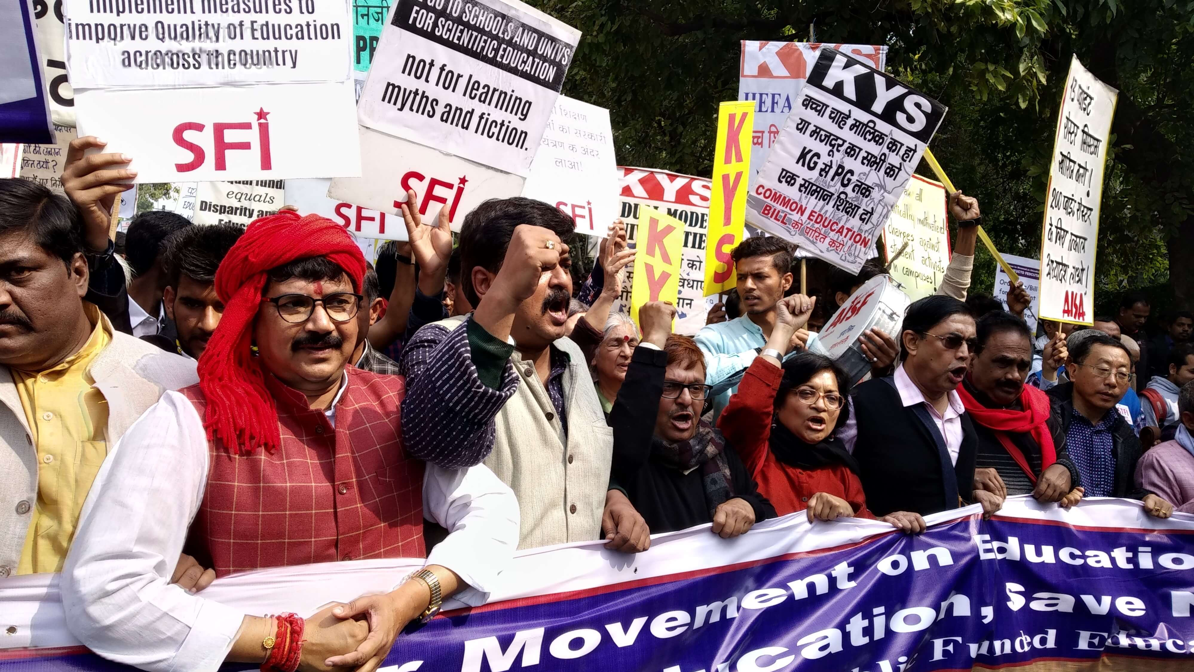 #ChalloDilli Day 2: Teachers Ask, When Will Attack On Higher Education Stop?