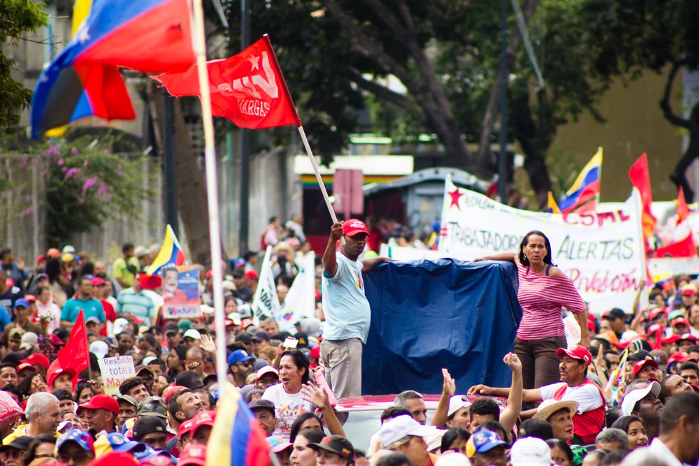 Thousands of Venezuelans have gathered across the country to defend the ideology and the gains of the Bolivarian revolution