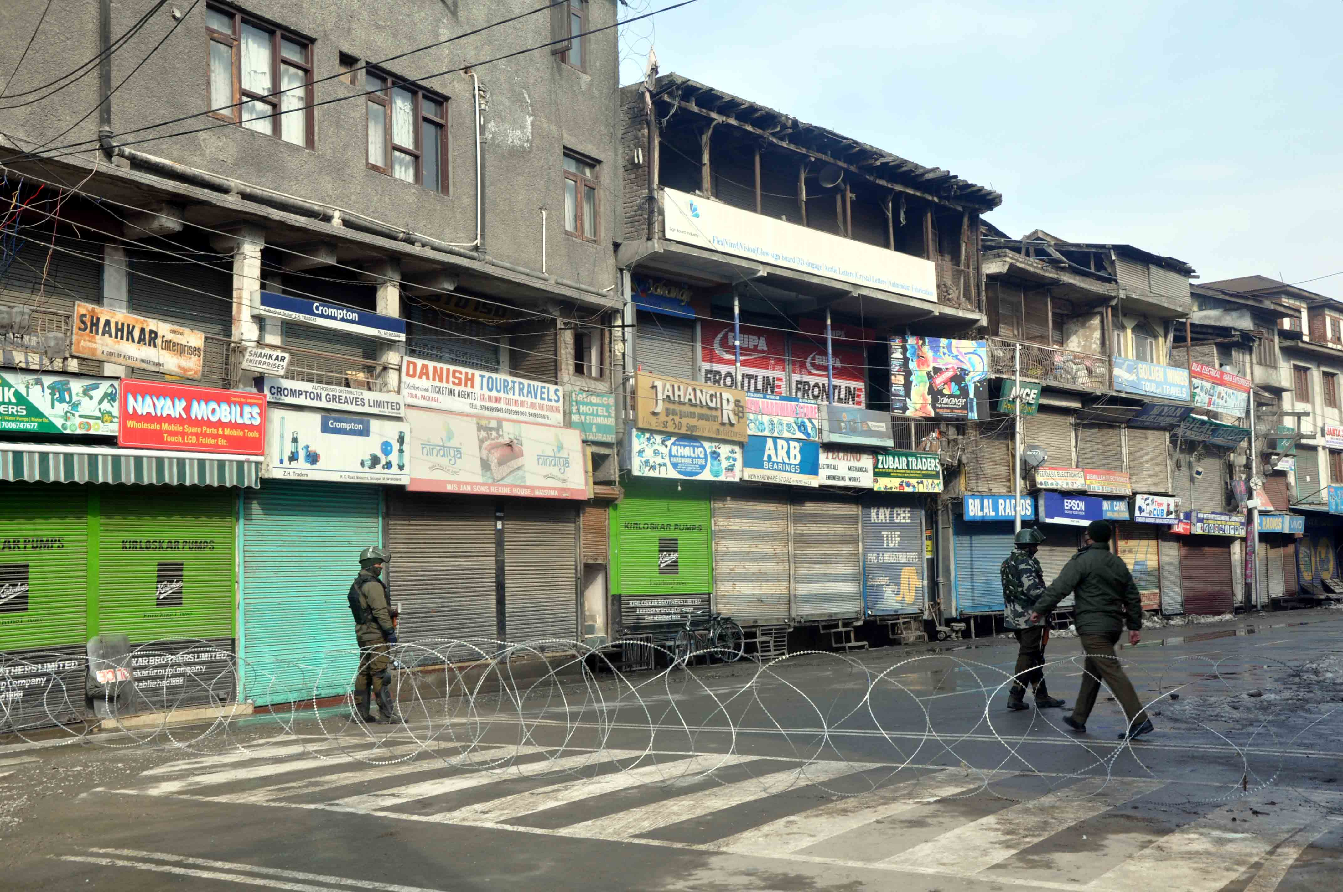 Kashmir Observes Shutdown on Death Anniversary of Maqbool Bhat