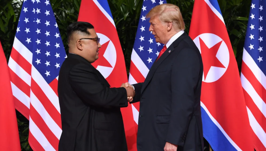 Donald Trump and North Korean Chairman, Kim Jong-un