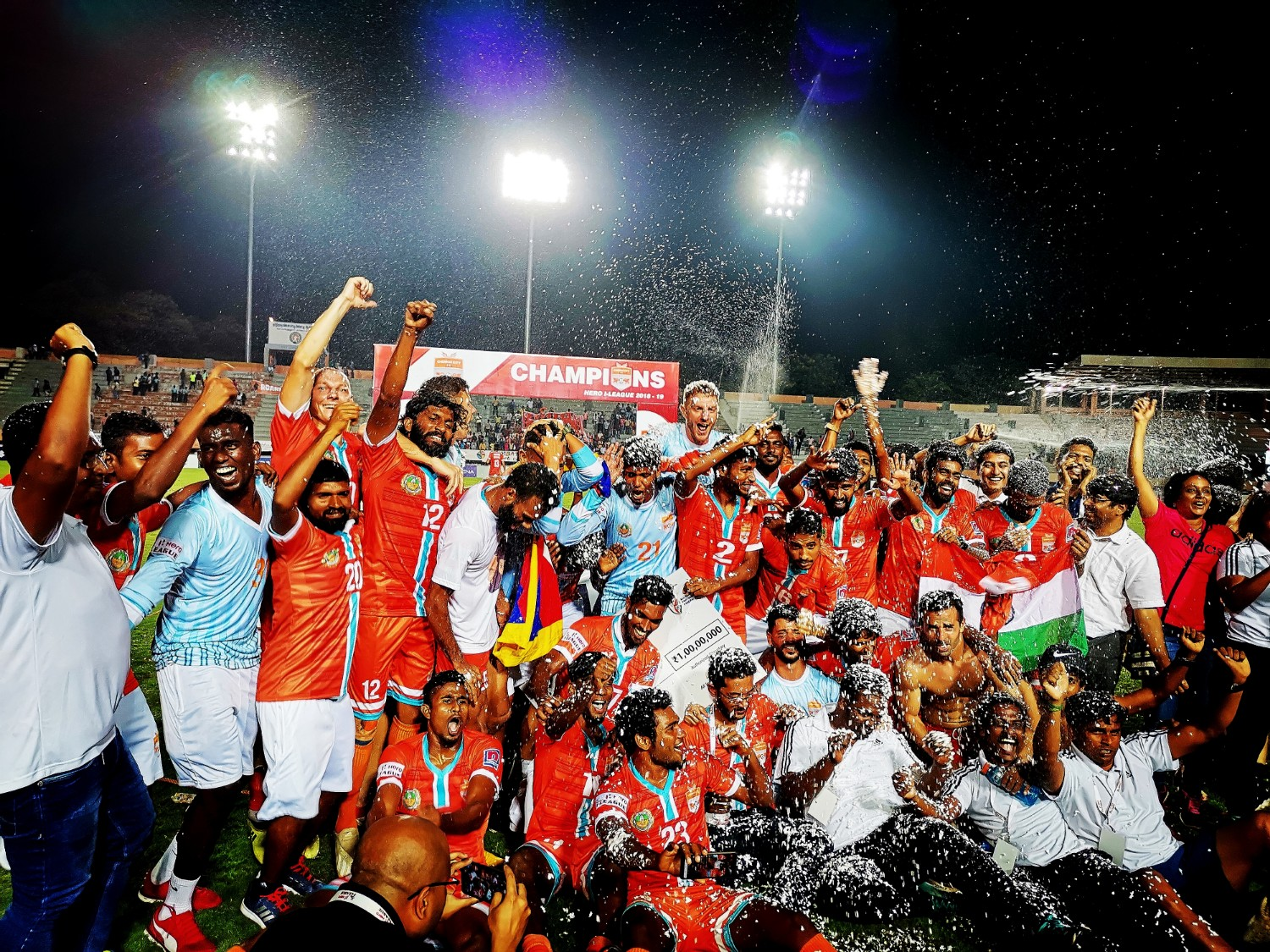 I-League football champions Chennai City FC