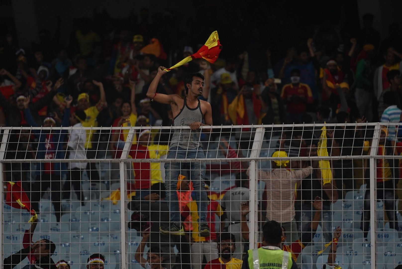 East Bengal fans during an I-League football match earlier in the season