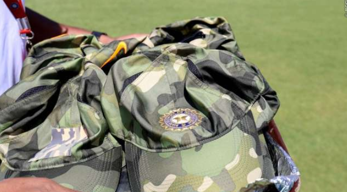 Indian cricket team took to the field against Australia cricket team in Ranchi on March 8 wearing Nike's special edition army camouflage caps