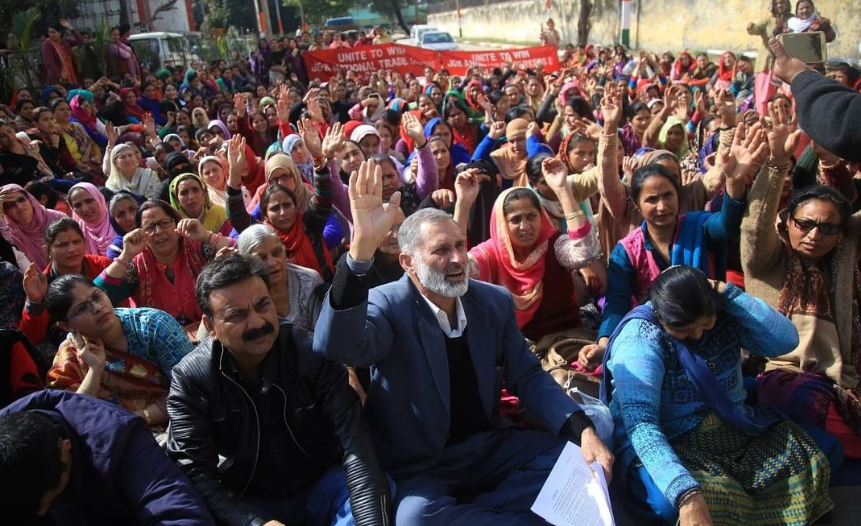 Haryana Anganwadi Workers Stage Region-wise Protests for Long Pending Demands