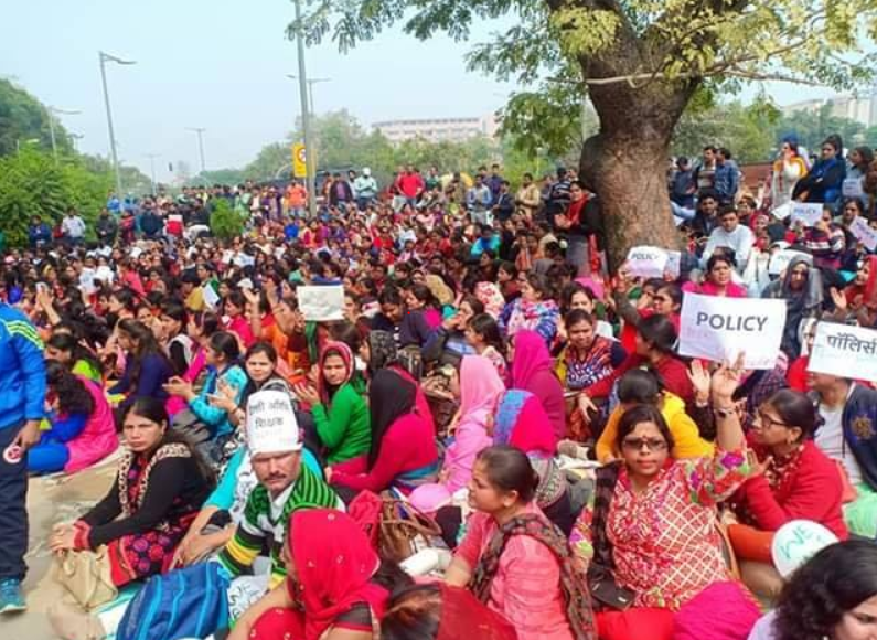 22,000 Guest Teachers in Delhi Take to Streets Demanding Regularisation