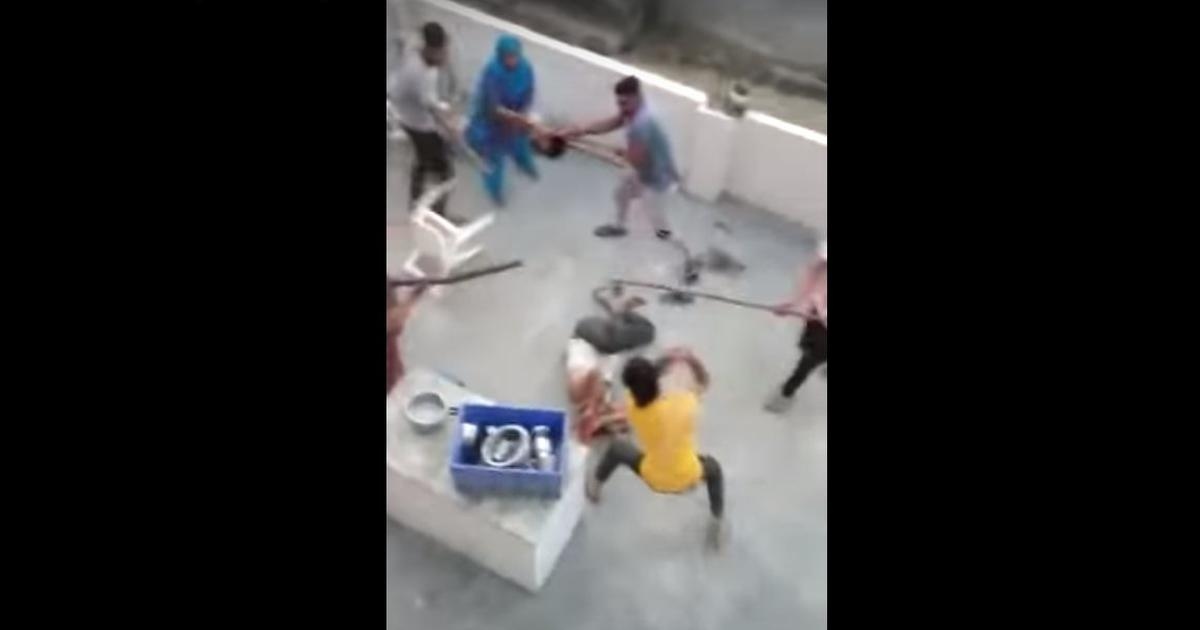 Muslim Family Attacked by Mob