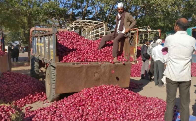 Onion Farmers Protest in Sikar Enters 9th Day