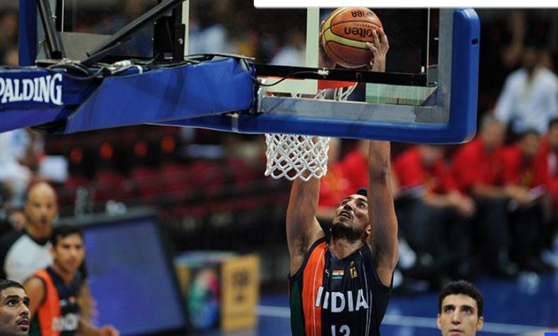 Indian basketball player Amjyot Singh