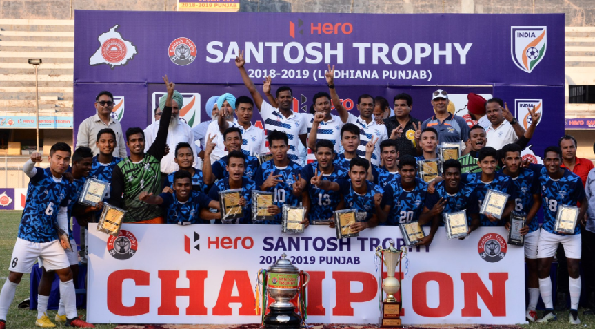Services football team, the 2018-19 Santosh Trophy champions
