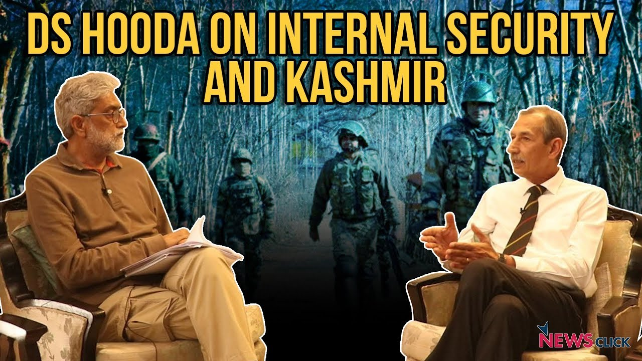 DS Hooda on Internal Security and Kashmir
